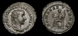 Ancient Coins - Gordian III, A.D. 238-244, AR Antoninianus (24 mm, 3.24 gm.,12h), Eastern Mint (Antioch?), Struck A.D. 238/9, VF/gVF
