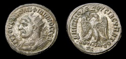 Ancient Coins - SYRIA, Seleucis and Pieria. Antioch. Philip I. AD 244-249. AR Tetradrachm (25 mm, 10.46 gm., 7h). Struck AD 248-249 Good VF