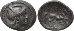 Ancient Coins - THESSALY, Skotussa, 3rd century BC, Æ Dichalkon (21 mm, 4.92 g, 12h) Good VF