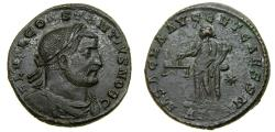 Ancient Coins - Constantius I, As Caesar, A.D. 293-305. Æ Follis (27 mm, 8.90 gm., 12h). Treveri (Trier) mint, 1st officina. Struck AD 300-301 Good VF
