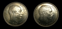 World Coins - Denmark 1912 2 Kroner, Death of Frederick VIII and Accession of Christian X KM-811 AU+