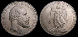 Ancient Coins - Germany 1871 Wurttemberg Thaler .900 .5359 End of Franco-Prussian War KM#620 UNC 6346