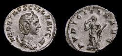 Ancient Coins -  Herennia Etruscilla, Augusta, 249-251, AR Antoninianus (21 mm, 3.32 g, 6h), Rome EF