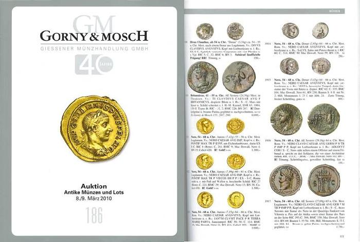 Ancient Coins - Gorny & Mosch Giessner Munzhandlung - Auction 186 - March 8-9, 2010 - Ancient Coins and Lots