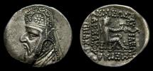 Ancient Coins - KINGS of PARTHIA, Mithradates II, 121-91 B.C. AR Drachm (20 mm, 3.91 g, 12h), Rhagai mint, Struck circa 96/5-93/2 B.C. aEF
