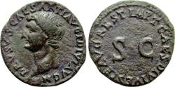 Ancient Coins - Drusus, Died AD 23, Æ As (25 mm, 8.65 g, 6 h), Restitution issue, Rome mint, Struck under Titus, AD 80-81 aVF