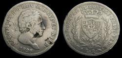 World Coins - Italian States Sardinia 2 Lire 1826 Scarce C.104.1 VG/F