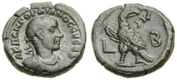 Ancient Coins - EGYPT, Alexandria, Gordian III, A.D. 238-244, BI Tetradrachm (23 mm, 12.21 gm., 12h), Dated RY 2 (A.D. 238/9) Good VF Eagle Ex CNG