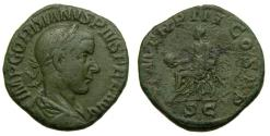 Ancient Coins - Gordian III, A.D. 238-244, Æ Sestertius (29 mm, 16.84 gm., 12h). Rome mint, A.D. 240 Good VF George His Collection