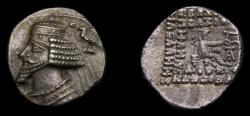 Ancient Coins - KINGS of PARTHIA, Phraates IV, Circa 38/7-2 B.C. AR Drachm (18 mm, 3.54 gm, 12h), Ekbatana mint Good VF+