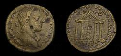 Ancient Coins - MOESIA INFERIOR, Nicopolis ad Istrum, Elagabalus A.D. 218-222 Æ (25 mm, 11.10 gm., 1h) VF Temple