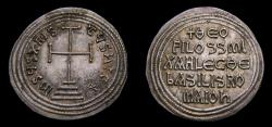 Ancient Coins - Byzantine Empire, Theophilus with Michael III, 829-842 AD, AR Miliaresion (25 mm, 2.27 g, 12h), Constantinople mint, Struck 840-842 Choice EF