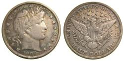 Us Coins - United States, 1908-O Silver Half Dollar 50C Liberty Head New Orleans Mint Toned VF++