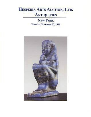 Ancient Coins - HESPERIA ARTS AUCTIONS, Inc., 27 November 1990 Part I - Egyptian, Near Eastern and Classical Greek and Roman Antiquities