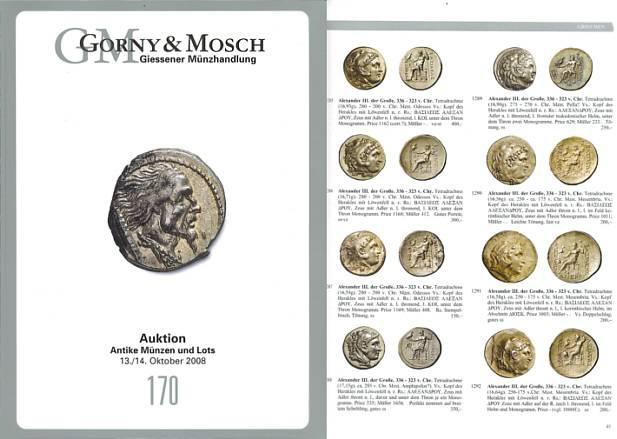 Ancient Coins - Gorny & Mosch Giessner Munzhandlung - Auction 170 - October 13-14, 2008 - Ancient Coins