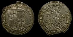 Ancient Coins - SPAIN, Castile & León, Fernando V & Isabel I (Los Reyes Católicos - the Catholic royals) 1474-1504, AR Real (30 mm, 3.34 g, 9h), Burgos mint. Struck after 1497 EF