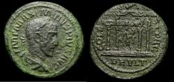 Ancient Coins - THRACE, Deultum, Maximinus I, 235-238 Æ (25 mm, 7.76 g, 7 h) Temple Ex Hirsch Rare