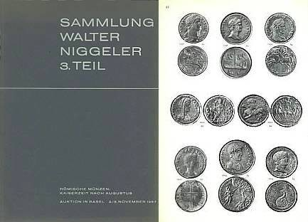 Ancient Coins - Auction of Walter Niggeler Collection, Part 3, Roman Imperial Coins - Sammlung Walter Niggeler Teil 3