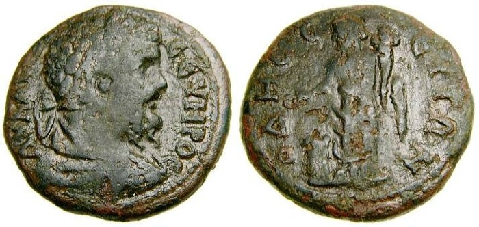 Ancient Coins - MOESIA INFERIOR, Odessus, Septimius Severus, A.D. 193-211, Æ 25 mm (9.52 gm., 1h) Good Fine
