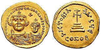 Ancient Coins - HERACLIUS, 610-641 A.D. AV Solidus (4.45 gm.), Struck circa 616-625 A.D. Constantinople mint EF Ex CNG