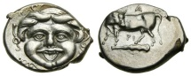 Ancient Coins - MYSIA, Parion, 4th century B.C. AR Hemidrachm (15 mm, 2.36 gm., 6h) Choice EF