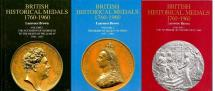 Ancient Coins - British Historical Medals 1760-1960 by Laurence BROWN Volumes 1 to 3 Complete
