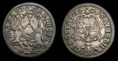 World Coins - Austrian States Salzburg Franz Anton 4 Kreuzer 1724 Km. 315 EF