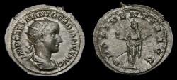 Ancient Coins - Gordian III, A.D. 238-244, AR Antoninianus (24 mm, 4.15 gm., 12h), Rome, First Issue, Struck A.D. 238/9, aEF/gVF