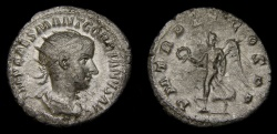 Ancient Coins - Gordian III, A.D. 238-244, AR Antoninianus (22 mm, 3.50 gm., 12h), Rome, Struck A.D. 239, VF