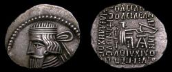 Ancient Coins - KINGS of PARTHIA, Gotarzes II, Circa AD 44-51, AR Drachm (20 mm, 3.06 g, 12h), Ekbatana mint VF