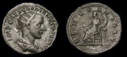 Ancient Coins - Gordian III, A.D. 238-244, AR Antoninianus (21 mm, 5.05 gm., 1h), Rome, Struck A.D 240, gVF/VF