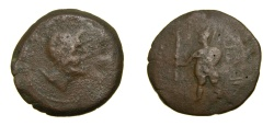 Ancient Coins - SPAIN, Ventipo, Mid 2nd century B.C. Æ As (33 mm, 18.04 gm., 9h) Fine Rare
