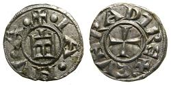 World Coins - ITALY, Genova, Republic, 1139-1339, AR Grosso da 4 denari (16 mm, 0.82 g), Struck circa 1272 EF