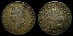 World Coins - Bolivia, Republic, AR 4 soles (32 mm, 13.05 g) 1857-PTS FJ Potosi Mint EF