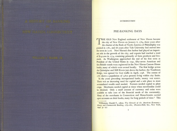 World Coins - A HISTORY OF BANKING IN NEW HAVEN, CONNECTICUT - by William F. Hasse Jr.
