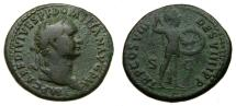 Domitian, A.D. 81-96, Æ As (27 mm, 9.66 gm., 7h), Rome mint, Struck A.D. 82 VF