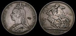 World Coins - 1889 Great Britain Silver Crown KM#765 VF