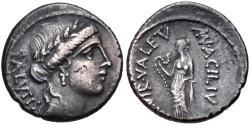 Ancient Coins - Roman Imperatorial, Man. Acilius Glabrio. 49 BC. AR Denarius (17.5mm, 3.87 g, 12h), Rome mint VF Ex CNG