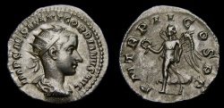 Ancient Coins - Gordian III, A.D. 238-244, AR Antoninianus (22 mm, 3.89 gm., 12h), Rome, Struck A.D. 239, gVF