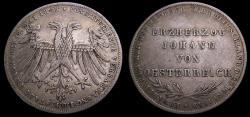 Ancient Coins - Germany 1848 Frankfurt As Free City 2 Golden .900 .6137 Oz KM#337 VF 6341