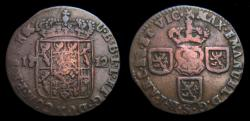 World Coins - Spanish Netherlands Namur Maximilian Emanuel Liard 1712 Rare KM.17 Fine