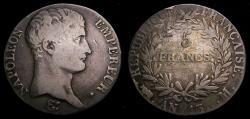 Ancient Coins - Francs AN13M 5 Francs Napoleon Bonaparte Toulouse Mint KM#662.10 VF 6360