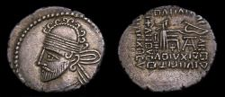 Ancient Coins - KINGS of PARTHIA, Pakoros I, Circa AD 78-120, AR Drachm (20 mm, 3.48 gm., 12h), Ekbatana mint Good VF