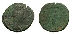 Ancient Coins - Gordian III, A.D. 238-244, Æ Sestertius (16.6 gm., 10h), Rome mint, 3rd officina, late AD 240-early 243 VF Ex George His Collection