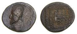 Ancient Coins - KINGS of PARTHIA, Orodes I, 80-75 B.C. AR Drachm (21 mm, 3.54 gm., 12h). Rhagai mint VF Scarce