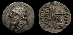 Ancient Coins - KINGS of PARTHIA, Mithradates II, 121-91 B.C., AR Drachm (19 mm, 4.14 gm, 12h), Rhagai mint, Struck circa 109-96/5 B.C. VF