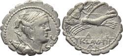 Ancient Coins - Ti. Claudius Ti.f. Ap.n. Nero, 79 BC, AR Serrate Denarius (19 mm, 3.76 g, 6h), Rome mint Good VF+