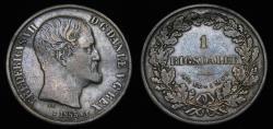World Coins - 1855 Denmark Rigsdaler FK/FF KM#760.2 Toned VF+