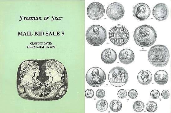 Ancient Coins - Freeman & Sear, Mail Bid Sale 5, May 14, 1999 - Roman, Greek Coins - Historical Medals