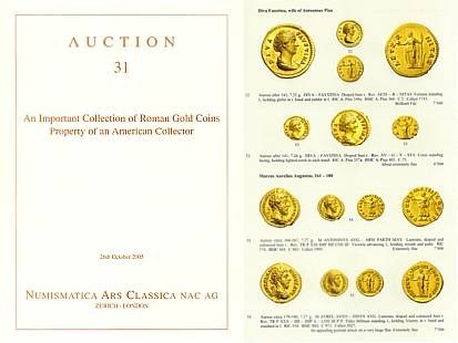 Ancient Coins - Numismatica Ars Classica (NAC) Auction 31 - October 26, 2005 - An Important Collection of Roman Gold Cons - Property of an American Collector